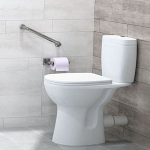 Barre d'appui à proximité d'un WC