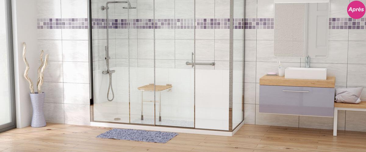 La douche pour senior et personne à mobilité réduite