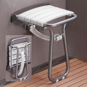 Siège de douche senior sécurisée rabatable