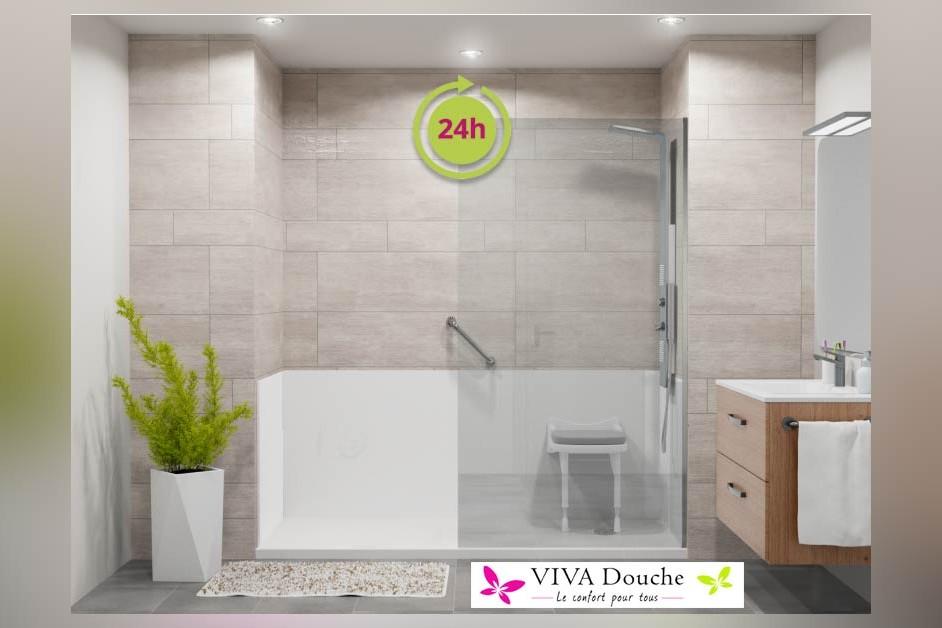 Installation d'une douche Senior en 24h