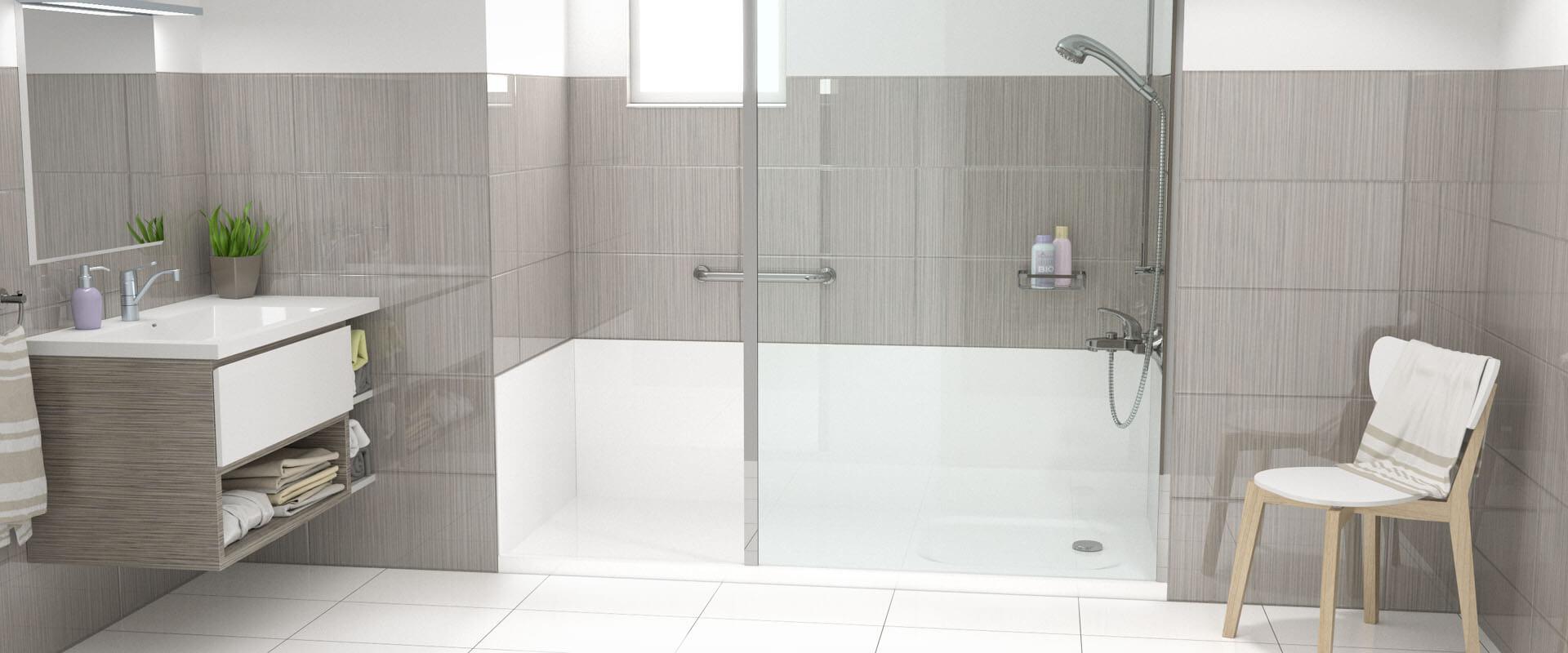 une douche senior pour remplacer votre baignoire viva. Black Bedroom Furniture Sets. Home Design Ideas
